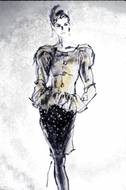 Golden Peplum Jacket