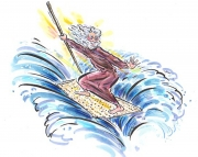 Moses Rides the Waves